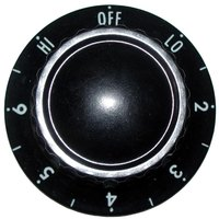All Points 22-1166 2 inch Infinite Switch Knob (Off, Lo, 2-6, Hi)
