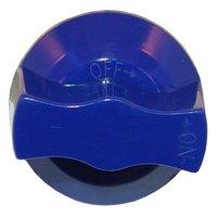All Points 22-1247 2 15/16 inch Blue Oven Burner Valve Knob (Off-On)