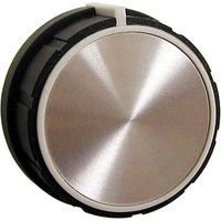 All Points 22-1572 1 5/8 inch Black, White, and Silver Indicator Knob