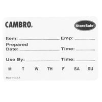 Cambro 23SLB6250 3 inch x 2 inch StoreSafe Dissolvable Product Label 250 / Roll - Printed - 6/Case