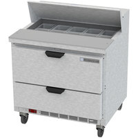Beverage Air SPED36HC-10-2 36 inch 2 Drawer Refrigerated Sandwich Prep Table