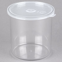 Carlisle 030107 1.2 Qt. Clear Classic Crock with Lid