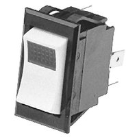 All Points 42-1601 On/Off Lighted Rocker Switch - 10A/250V, 15A/125V