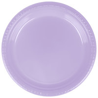 Creative Converting 28193021 9 inch Luscious Lavender Purple Plastic Dinner Plate - 20 / Pack