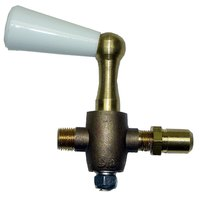 All Points 52-1065 Gas Valve with Adjustable Orifice;1/8 inch Gas In; 3/8 inch-27 Gas Out