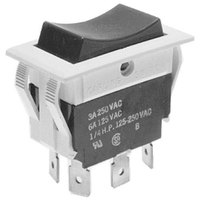Vulcan 411496-B3 Equivalent Momentary On/Off/On Rocker Switch - 3A/250V, 6A/125V