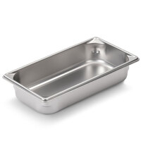 Vollrath Super Pan V 30322 1/3 Size Anti-Jam Stainless Steel Steam Table / Hotel Pan - 2 1/2 inch Deep