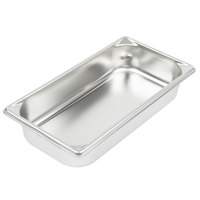 Vollrath 30322 Super Pan V® 1/3 Size Anti-Jam Stainless Steel Steam Table / Hotel Pan - 2 1/2 inch Deep
