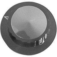 APW Wyott 56740 Equivalent 2 inch Black Cooker / Warmer / Toaster Thermostat Knob