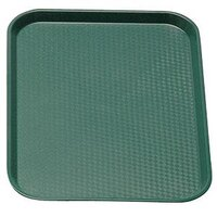 Cambro 1418FF119 Sherwood Green 14 inch x 18 inch Customizable Fast Food Tray 12/Case