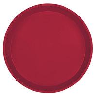 Cambro 1000505 10 inch Round Cherry Red Customizable Fiberglass Camtray - 12/Case