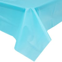 Creative Converting 11390 108 inch x 54 inch Bermuda Blue Disposable Plastic Table Cover - 12 / Case