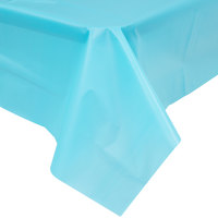 Creative Converting 11390 108 inch x 54 inch Bermuda Blue Disposable Plastic Table Cover - 12/Case