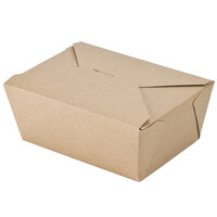 8 inch x 6 inch x 4 inch ChampPak Retro Kraft Paper #4 Take-Out Container - 40 / Pack