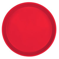 Cambro 1000521 10 inch Round Cambro Red Fiberglass Camtray - 12/Case