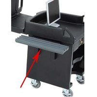 Cambro VCS32R191 Granite Gray Tray Rail for Versa Cart