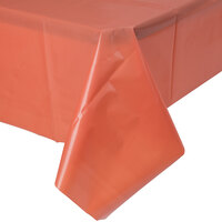 Creative Converting 723121 54 inch x 108 inch Brick Red Plastic Table Cover - 12 / Case