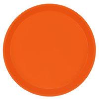 Cambro 1000220 10 inch Round Citrus Orange Customizable Fiberglass Camtray - 12/Case