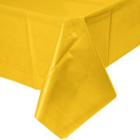 Creative Converting 011012B 54 inch x 108 inch School Bus Yellow Disposable Plastic Table Cover - 24/Case