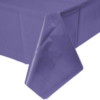 Creative Converting 01287B 54 inch x 108 inch Purple Disposable Plastic Table Cover - 24/Case