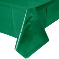 Creative Converting 01191B 54 inch x 108 inch Emerald Green Disposable Plastic Table Cover   - 24/Case