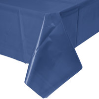 Creative Converting 010140B 54 inch x 108 inch Navy Blue Disposable Plastic Table Cover   - 24/Case