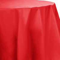 Creative Converting 703548 82 inch Classic Red OctyRound Disposable Plastic Table Cover - 12/Case