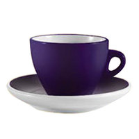CAC E-75-CBU Venice 7.5 oz. Blue Cup with 5 7/8 inch Saucer - 36/Case