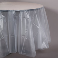Creative Converting 700418 82 inch Clear OctyRound Plastic Table Cover - 12 / Case