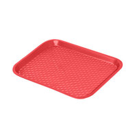 GET FT-16-R Red 16 1/4 inch x 12 inch Polypropylene Fast Food Tray - 24/Case