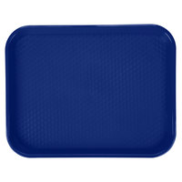 GET FT-18-CB Cobalt Blue 17 1/2 inch x 14 inch Polypropylene Fast Food Tray - 12/Case