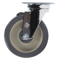 Cambro 60007 5 inch Swivel Caster with Brake and 4 Bolts for Cambro Dish Dollies / Caddies