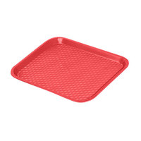 GET FT-14-R Red 14 inch x 10 3/4 inch Polypropylene Fast Food Tray - 24/Case