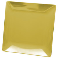 Elite Global Solutions D77SQ Squared Olive Oil 7 inch Square Melamine Plate - 6/Case