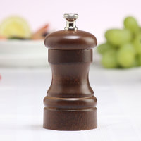 Chef Specialties 04150 Professional Series 4 inch Customizable Capstan Walnut Pepper Mill