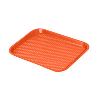 GET FT-16-OR Orange 16 1/4 inch x 12 inch Polypropylene Fast Food Tray - 24/Case