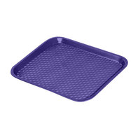 GET FT-14-CB Cobalt Blue 14 inch x 10 3/4 inch Polypropylene Fast Food Tray - 24 / Case