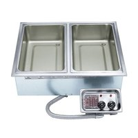 APW Wyott HFW-3D Insulated Three Pan Drop In Hot Food Well with Drain