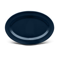 Elite Global Solutions D69OV Urban Naturals Lapis 9 1/4 inch x 6 1/4 inch Oval Melamine Platter - 6/Case