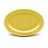 Elite Global Solutions D69OV Urban Naturals Olive Oil 9 1/4 inch x 6 1/4 inch Oval Melamine Platter - 6/Case