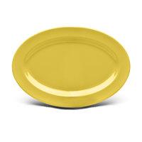 Elite Global Solutions D812OV Urban Naturals Olive Oil 12 3/4 inch x 8 3/4 inch Oval Melamine Platter - 6/Case