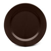 Elite Global Solutions D1175PL Urban Naturals Aubergine 11 3/4 inch Round Melamine Plate - 6/Case