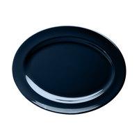 Elite Global Solutions D1014OV Urban Naturals Lapis 14 1/2 inch x 10 1/2 inch Oval Melamine Platter - 6/Case