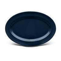Elite Global Solutions D812OV Urban Naturals Lapis 12 3/4 inch x 8 3/4 inch Oval Melamine Platter - 6/Case