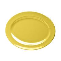 Elite Global Solutions D1014OV Urban Naturals Olive Oil 14 1/2 inch x 10 1/2 inch Oval Melamine Platter - 6/Case