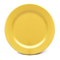 Elite Global Solutions D1175PL Rio Yellow 11 3/4 inch Round Melamine Plate - 6/Case