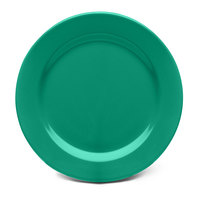 Elite Global Solutions D775PL Rio Autumn Green 7 3/4 inch Round Melamine Plate - 6/Case