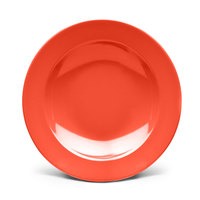 Elite Global Solutions D12PB Rio Spring Coral 24 oz. Round Melamine Pasta / Soup Bowl - 6/Case
