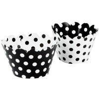 Hoffmaster 611131 Black / White Reversible Cupcake Wrappers 250 / Case