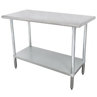 """Advance Tabco SLAG-304-X 30"""" x 48"""" 16 Gauge Stainless Steel Work Table with Stainless Steel Undershelf"""